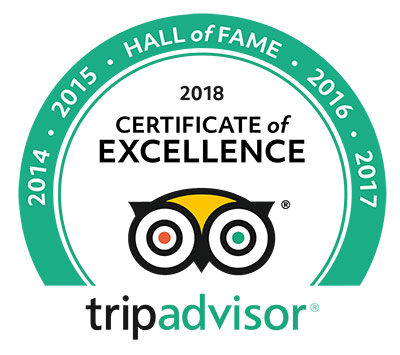 Trip Advisor 2018 Hall of Fame Award